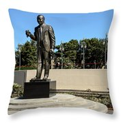 Louis Armstrong - Jazz Musician - New Orleans Throw Pillow