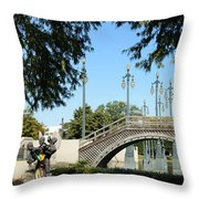 Louis Armstrong Park - New Orleans Throw Pillow