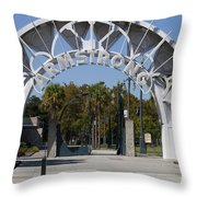 Louis Armstrong Park - New Orleans Louisiana Throw Pillow