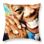 Louis Armstrong  What A Wonderful World  Throw Pillow