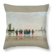 Louis Boudin Throw Pillow