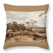Louis Buvelot , At Ballan, 1876 Throw Pillow