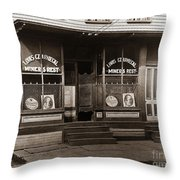 Louis Czarniecki Miners Rest 209 George Ave Parsons Pennsylvania Throw Pillow
