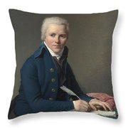 Louis David   Portrait Of Jacobus Blauw Throw Pillow