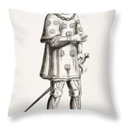 Louis De Mallet, Lord Of Graville Throw Pillow