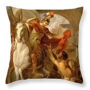 Louis Galloche - A Scene From The Life Of St. Martin Throw Pillow