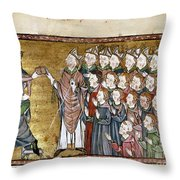 Louis Ix (1214-1270) Throw Pillow