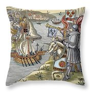 Louis Ix: Disembarking Throw Pillow