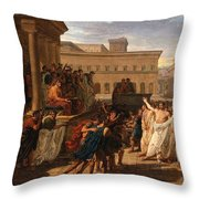 Louis Lafitte - Brutus Listening To The Ambassadors From The Tarquins Throw Pillow