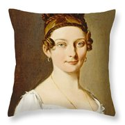 Louis-leopold Boilly - Portrait Of A Lady Throw Pillow