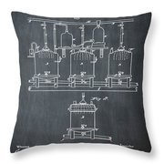 Louis Pasteur Brewing Beer And Ale Patent 1873 Chalk Throw Pillow