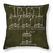 Louis Pasteur Brewing Beer And Ale Patent 1873  Grunge Throw Pillow