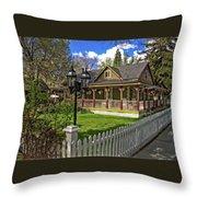 Louis Prang House Throw Pillow