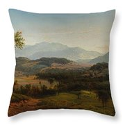 Louis Remy Mignot 1831-1870, Fishkill Mountains Throw Pillow