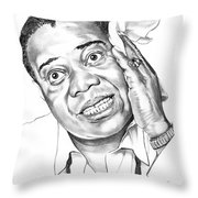 Louis Satchmo Armstrong Throw Pillow