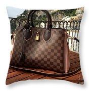 Louis Vuitton Handbag Overlooking The Amalfi Coast Throw Pillow