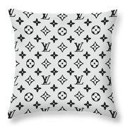 Louis Vuitton Pattern Lv 07 Grey Throw Pillow