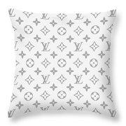 Louis Vuitton Pattern - Lv Pattern 14 - Fashion And Lifestyle Throw Pillow