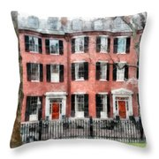 Louisburg Square Beacon Hill Boston Throw Pillow