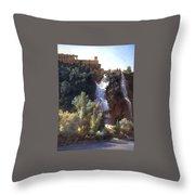 Louise-josephine Sarazin De Belmont  View Of The Falls At Tivoli Throw Pillow