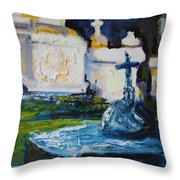 Louisiana Cemetery Throw Pillow