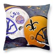 Louisiana Fan Throw Pillow
