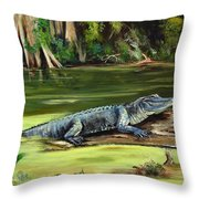 Louisiana Gator Throw Pillow