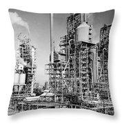 Louisiana: Oil Refinery Throw Pillow