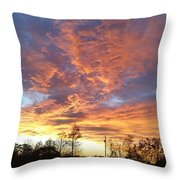 Louisiana Sunset 1 Throw Pillow