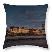 Louisville And Indiana Railroad At Jeffersonville Indiana Throw Pillow