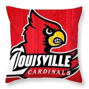 Louisville Cardinals Barn Door Throw Pillow