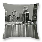 Louisville Gray Throw Pillow