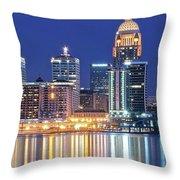 Louisville Kentucky Lights Throw Pillow