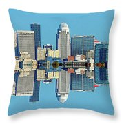 Louisville Skyline Reflection Throw Pillow