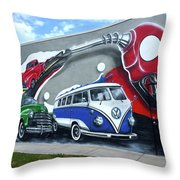 Lou's Filling Station Throw Pillow