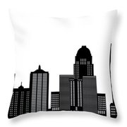 Lousivile Skyline Throw Pillow