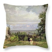 Louveciennes Throw Pillow by Camille Pissarro