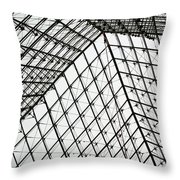 Louvre Above Throw Pillow