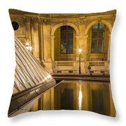 Louvre Courtyard Lamps - Paris Throw Pillow