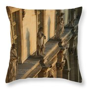 Louvre Exterior Throw Pillow