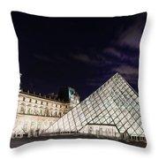Louvre Museum 2 Art Throw Pillow