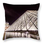 Louvre Museum 4 Art Throw Pillow