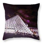 Louvre Museum 5 Art Throw Pillow