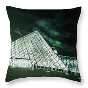 Louvre Museum 5b Art Throw Pillow