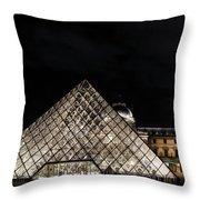 Louvre Museum 6 Art Throw Pillow