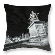 Louvre Museum 7 Art Bw Throw Pillow