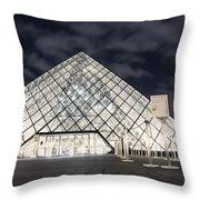 Louvre Museum Art Throw Pillow