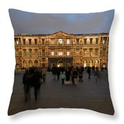 Louvre Palace, Cour Carree Throw Pillow by Mark Czerniec