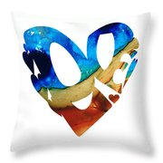 Love 6 - Heart Hearts Valentine's Day Throw Pillow