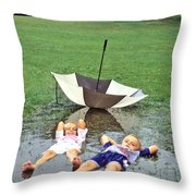 Love A Rainy Day Series Throw Pillow